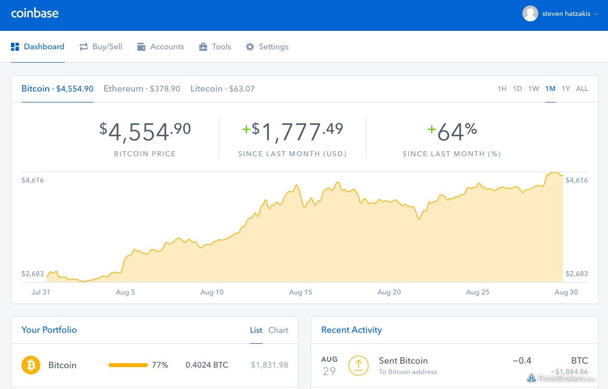 Coinbase-web-platform-dashboard