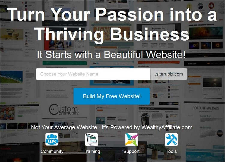 siterubix free website builder